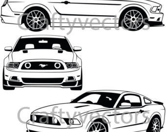 1155 Mustang free clipart.