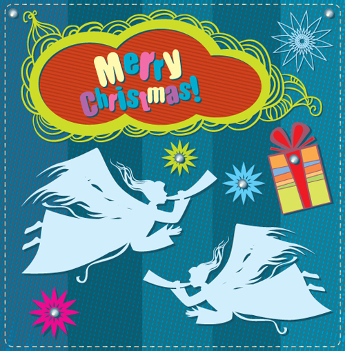Cartoon Christmas and 2013 New Year Clipart vector 05 free.