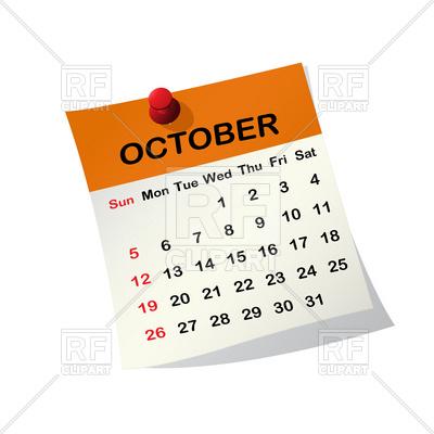 Images: October 2013 Calendar Clip Art.