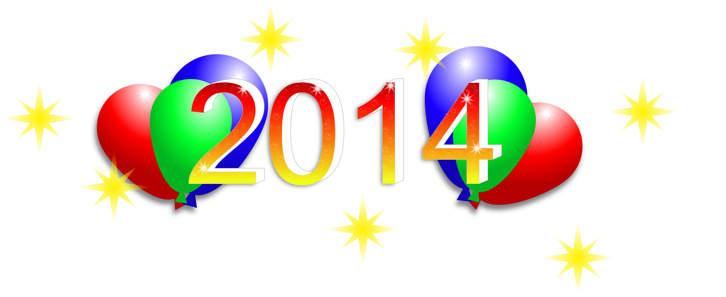 New Year's Eve 2014 Clipart.