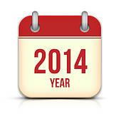 Clipart of Calendar for 2014, january k15353064.