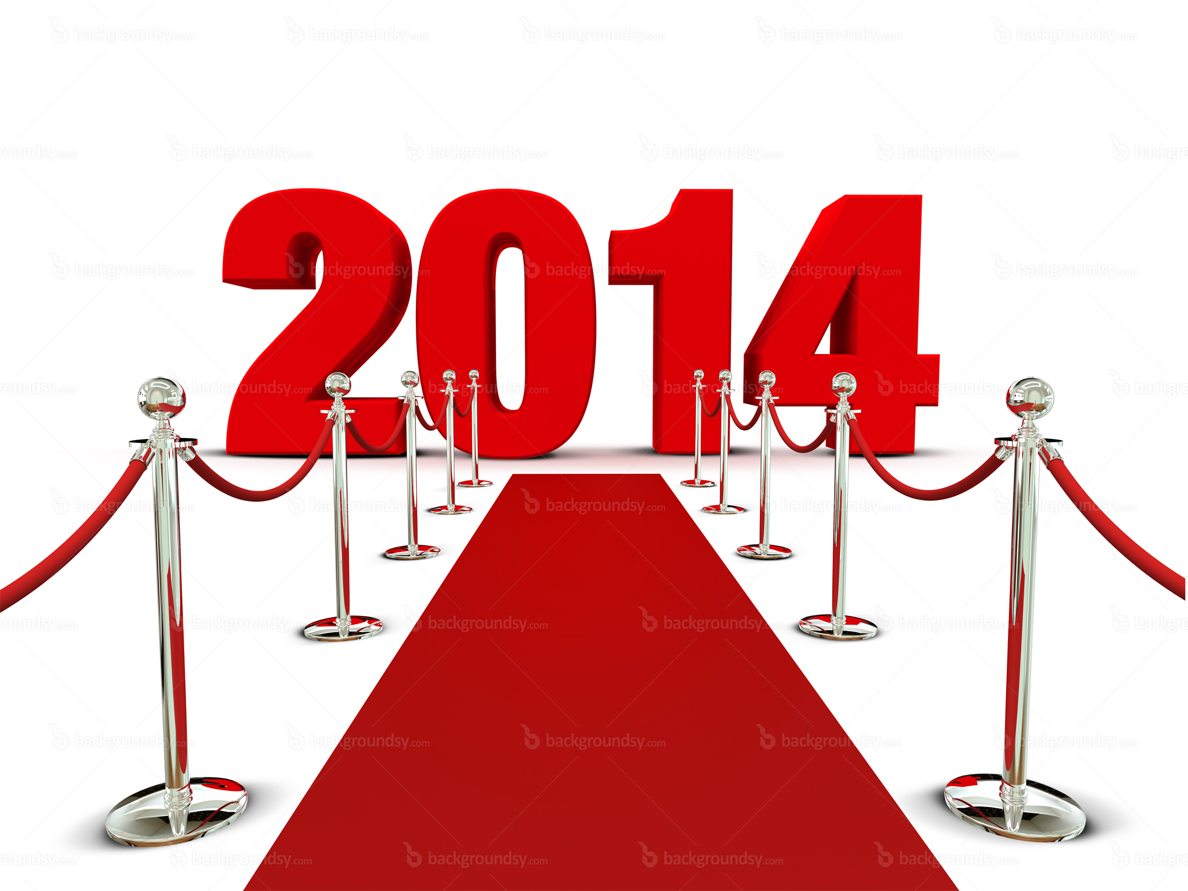 New Year 2014 red carpet.