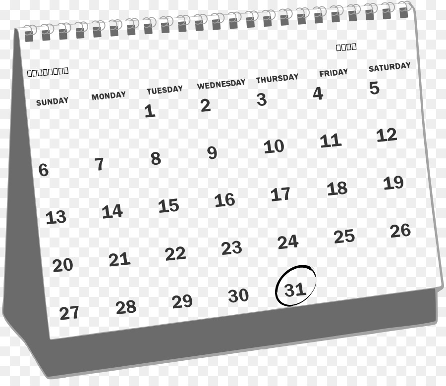 Calendar White Website Clip art.