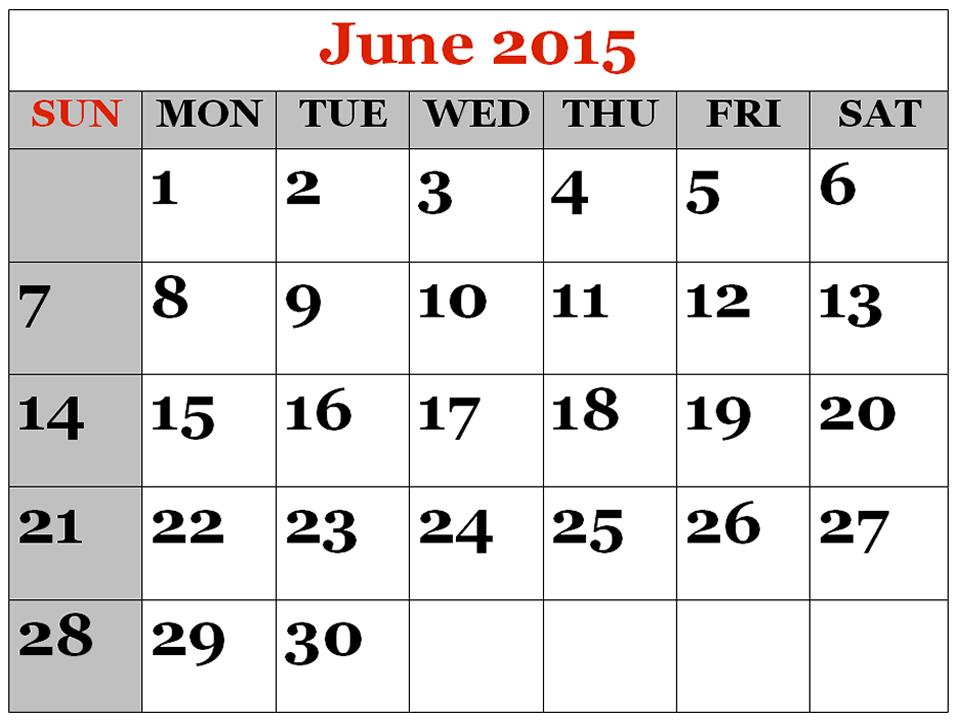 June 2015.