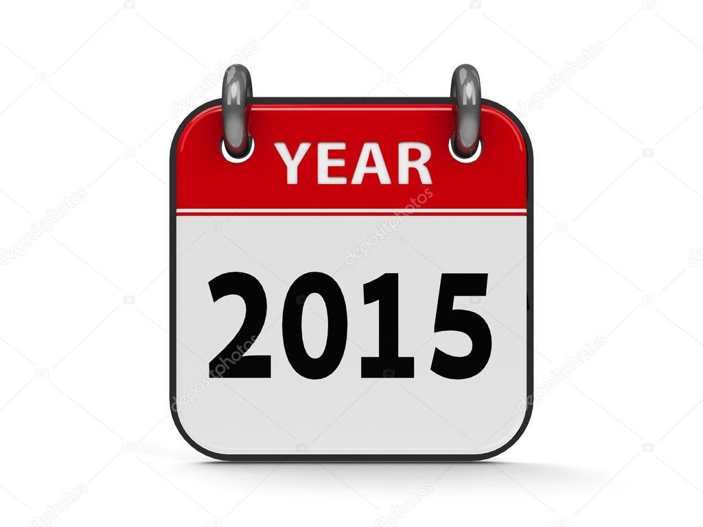Icon calendar 2015 year — Stock Photo © Oakozhan #53085773.