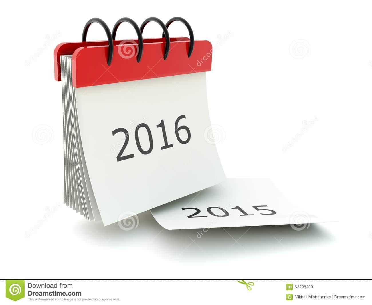 2016 New Year Calendar Icon Stock Illustration.