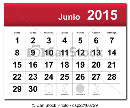 Calendar june clipart.