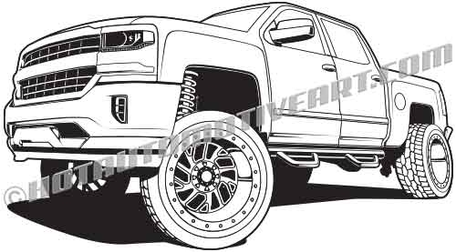 2015 Lifted 4X4 Pickup Truck.