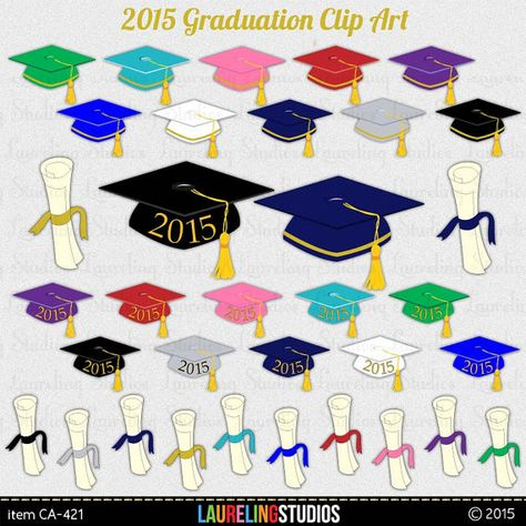 graduation clipart: 2015 graduation digital by.