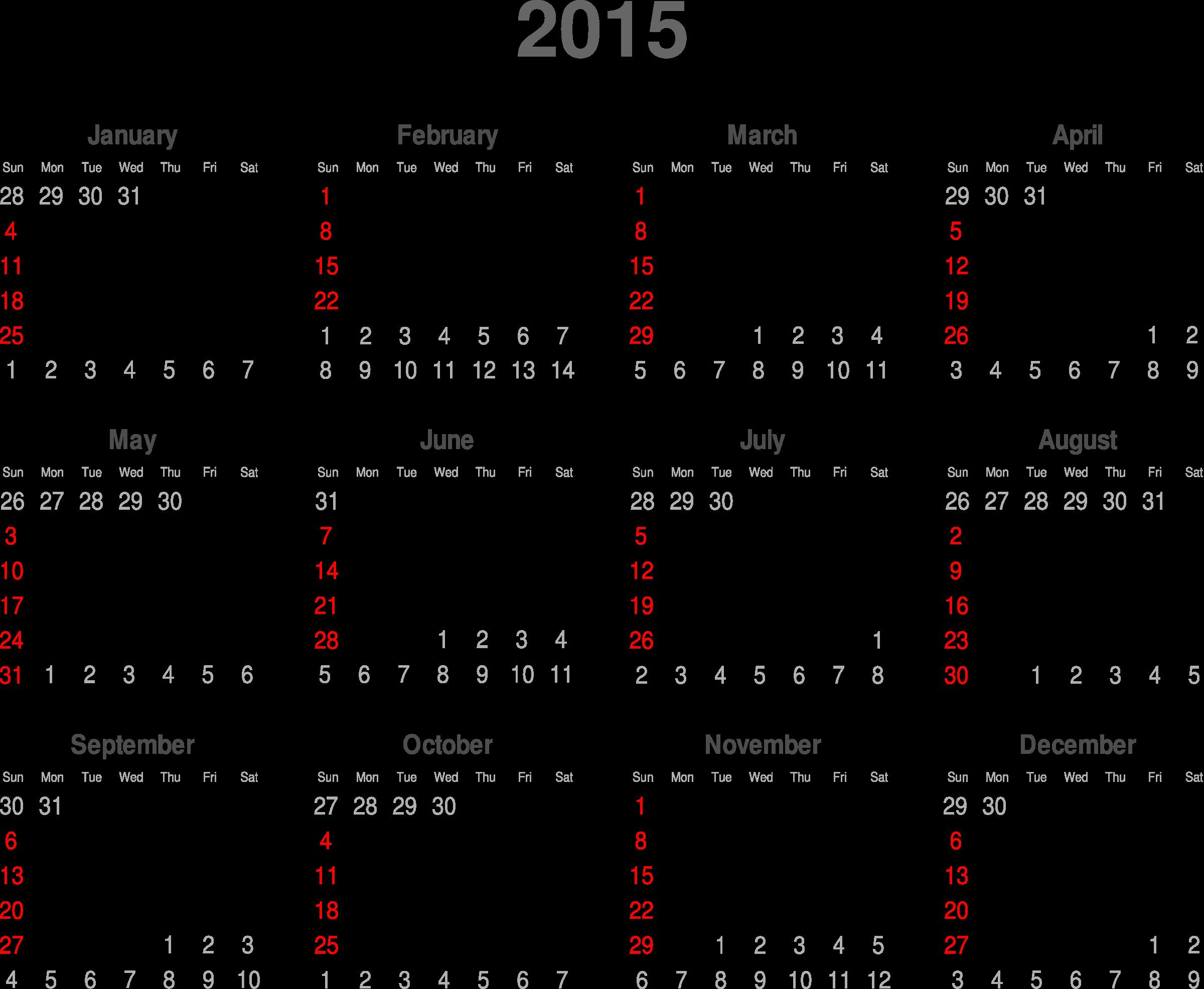 Free 2015 Calendar Cliparts, Download Free Clip Art, Free Clip Art.