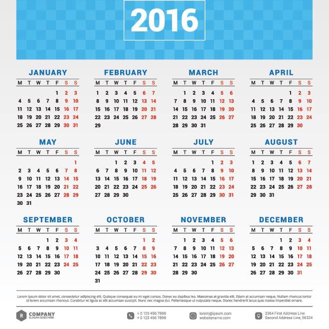 Free clipart calendar 2016 4 » Clipart Station.
