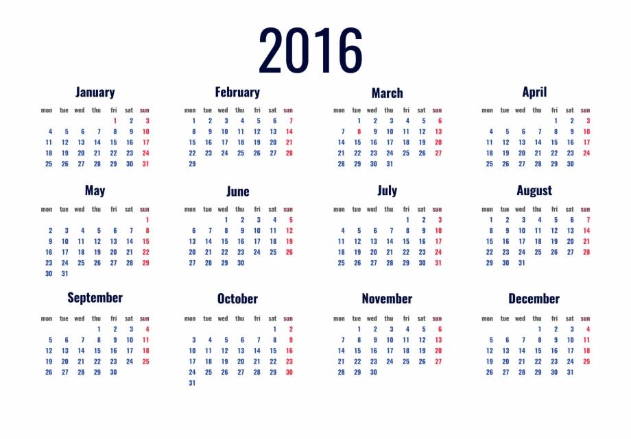 Picture Calendar 2016 Transparent Free Clipart Hq Clipart.