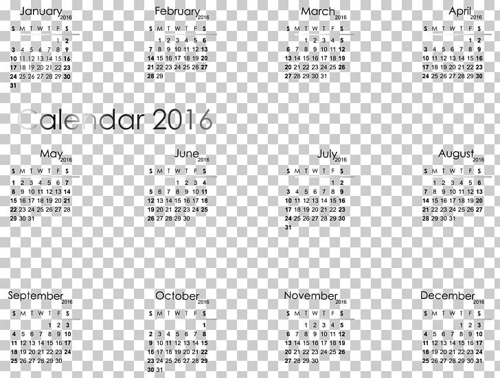 Paintbrush , 2016 Transparent Calendar , 2016 calendar PNG.