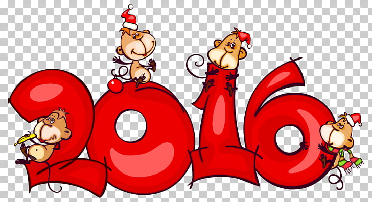 Christmas New Year , 2016 with Monkeys , 2016 and monkey.