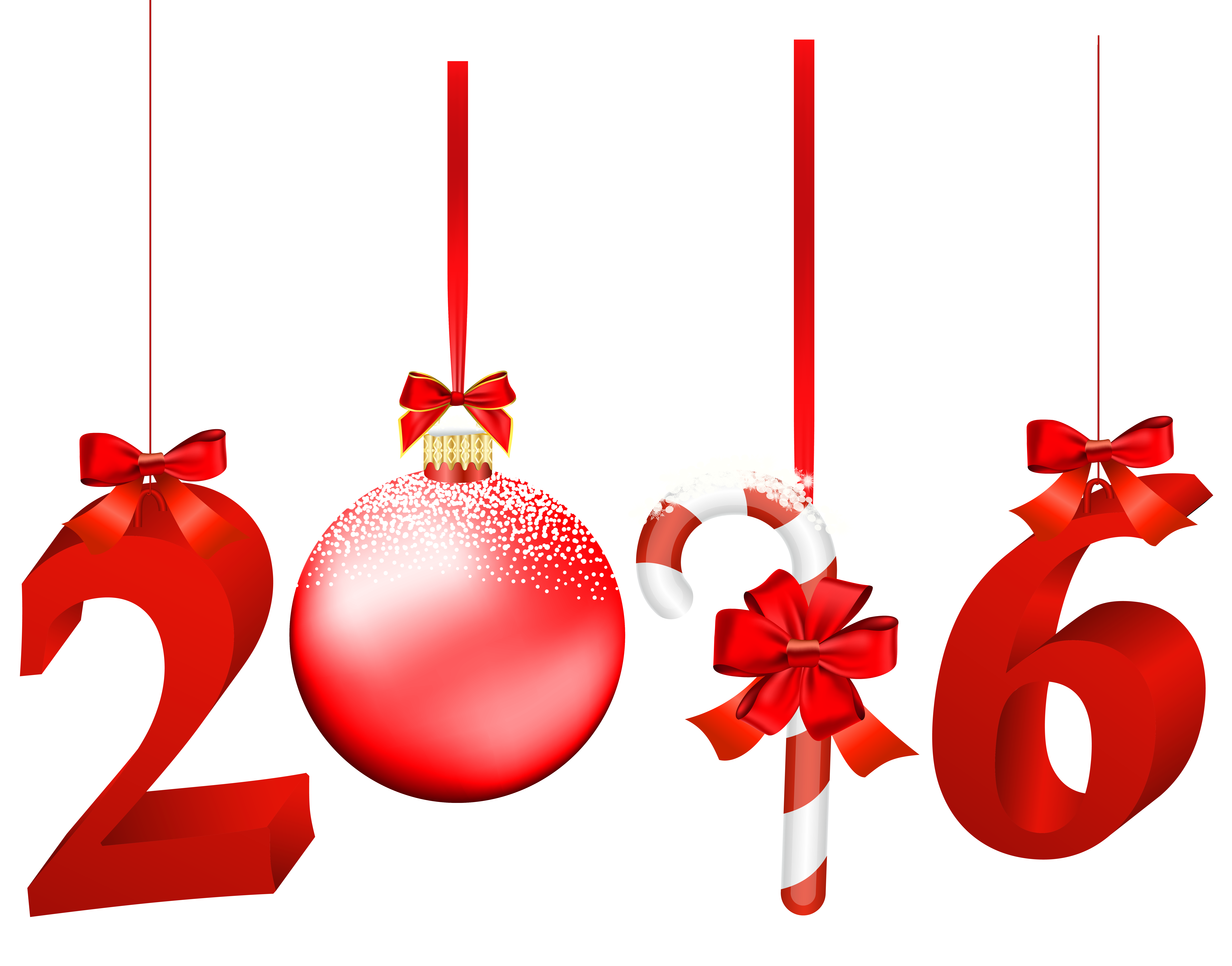 2016 Red Transparent PNG Clip Art Image.