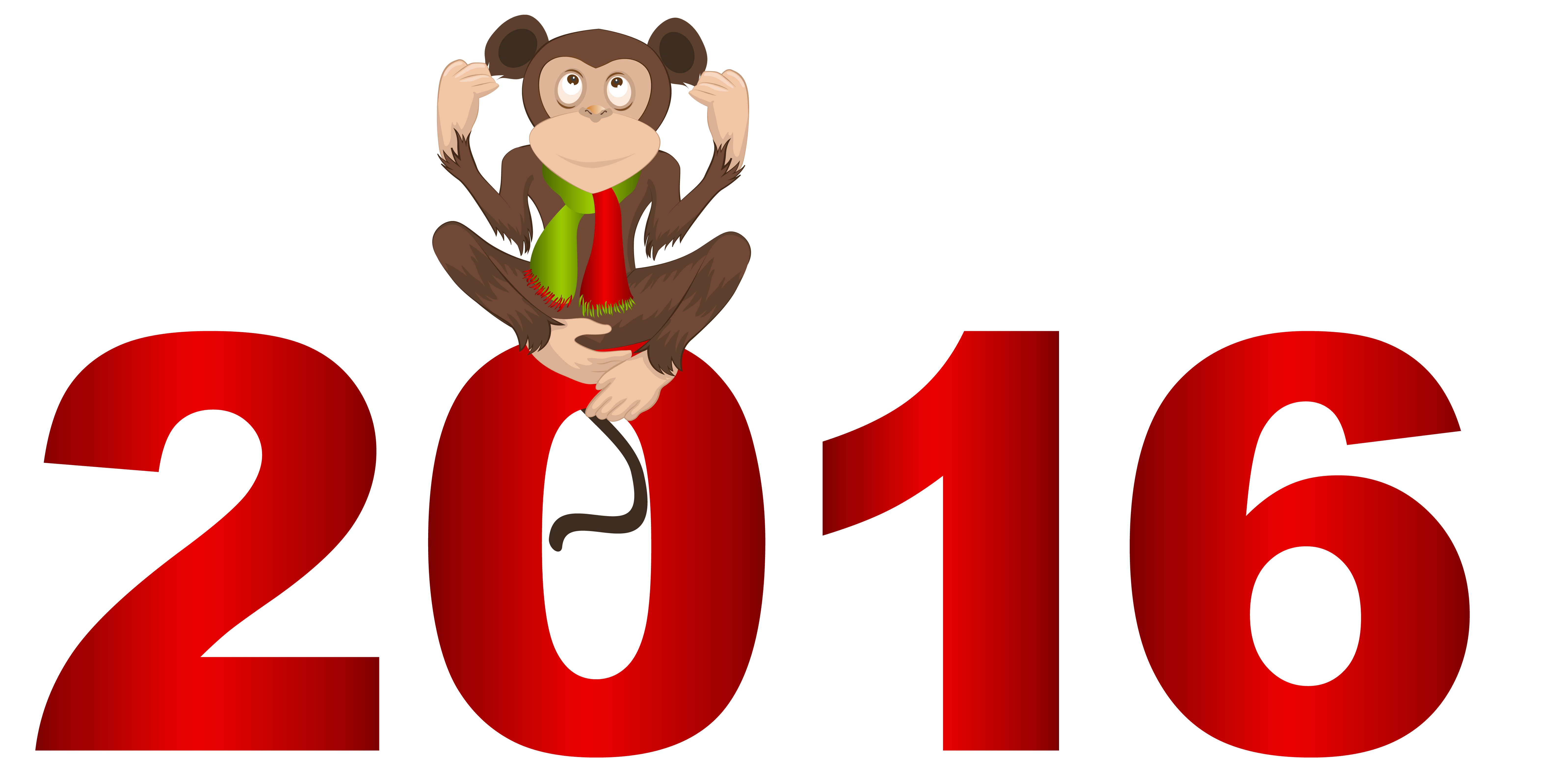 2016 with Monkey PNG Clipart Image.