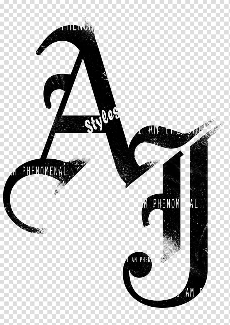 AJ Styles Black Logo transparent background PNG clipart.