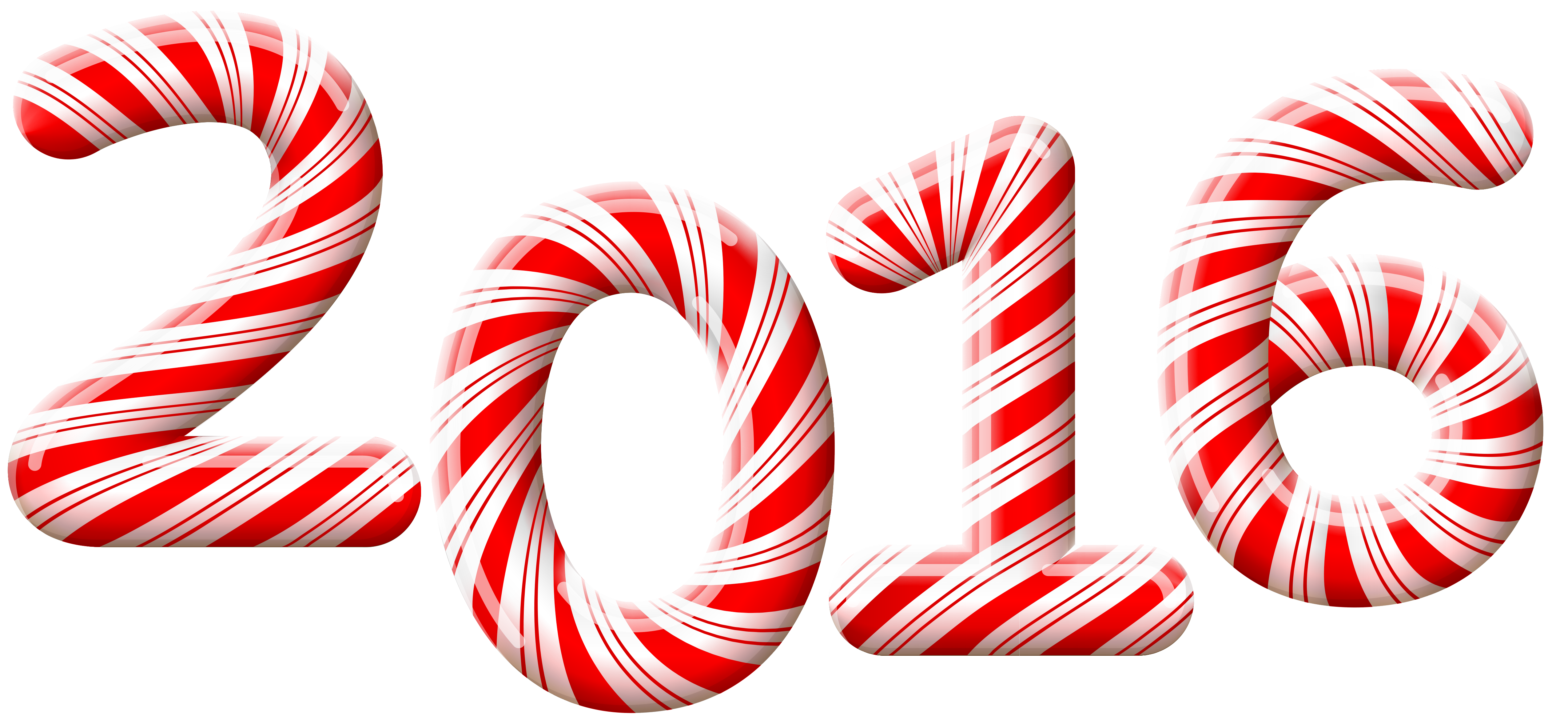 2016 Candy Cane PNG Clip.