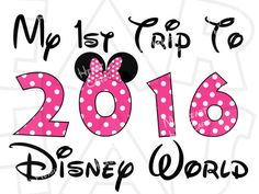 Disney World 2016 in character text INSTANT DOWNLOAD digital clip.