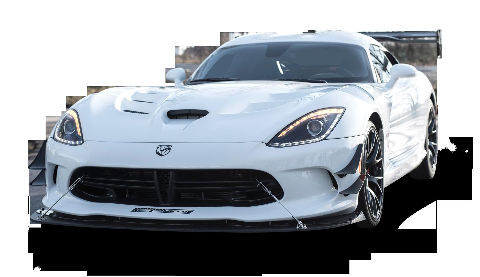 White Dodge Viper ACR Car.