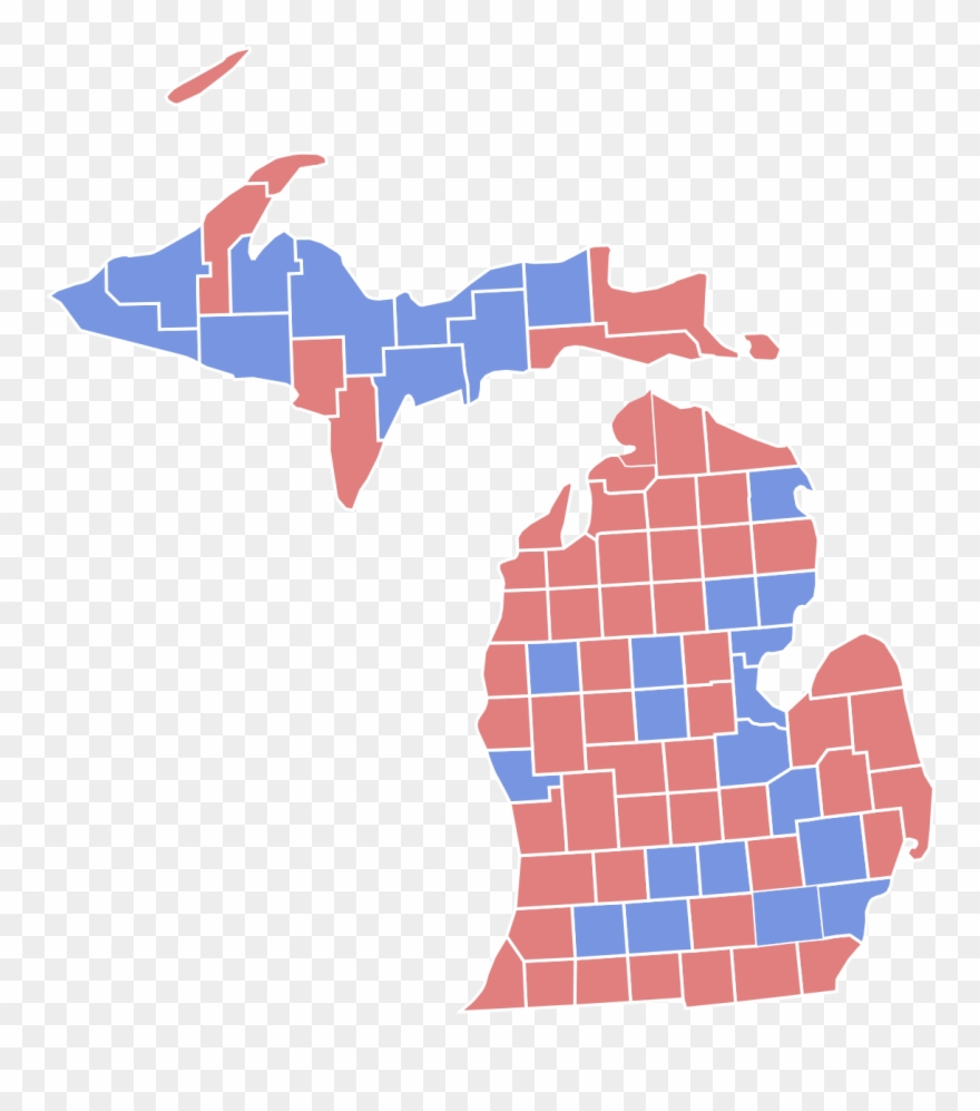 Michigan Counties 2016 Election Clipart (#1954632).