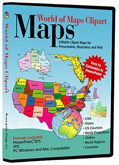 World of Maps Clip Art.