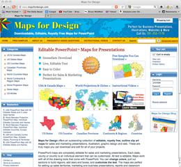 Editable PowerPoint Maps.