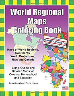 Amazon.com: World Regional Maps Coloring Book: Maps of World Regions.