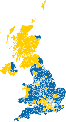 Results of the 2016 United Kingdom European Union membership.
