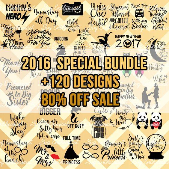 80% Off sale Bundle Svg, +120 SVG bundle, 2016 Special Bundle SVG.
