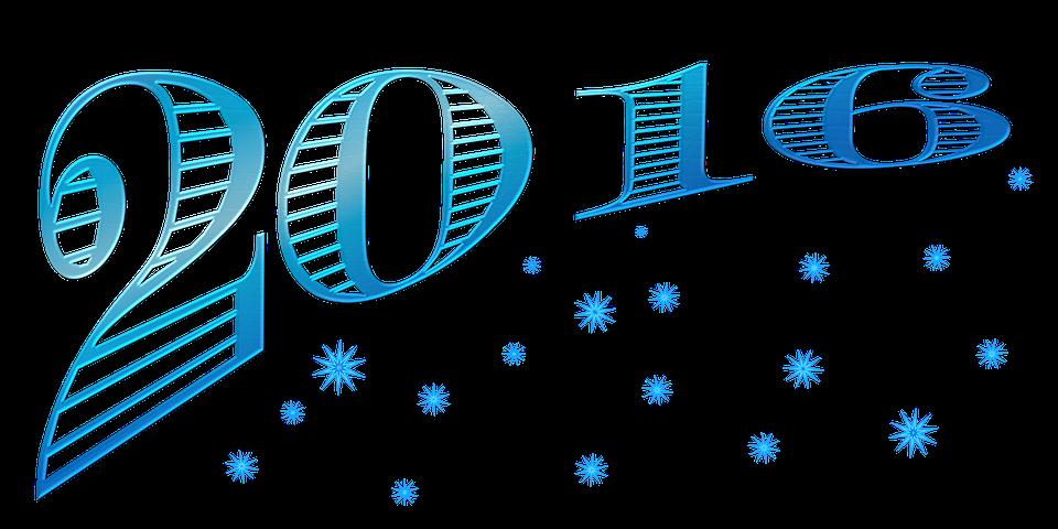 New Year Wordart Blue.