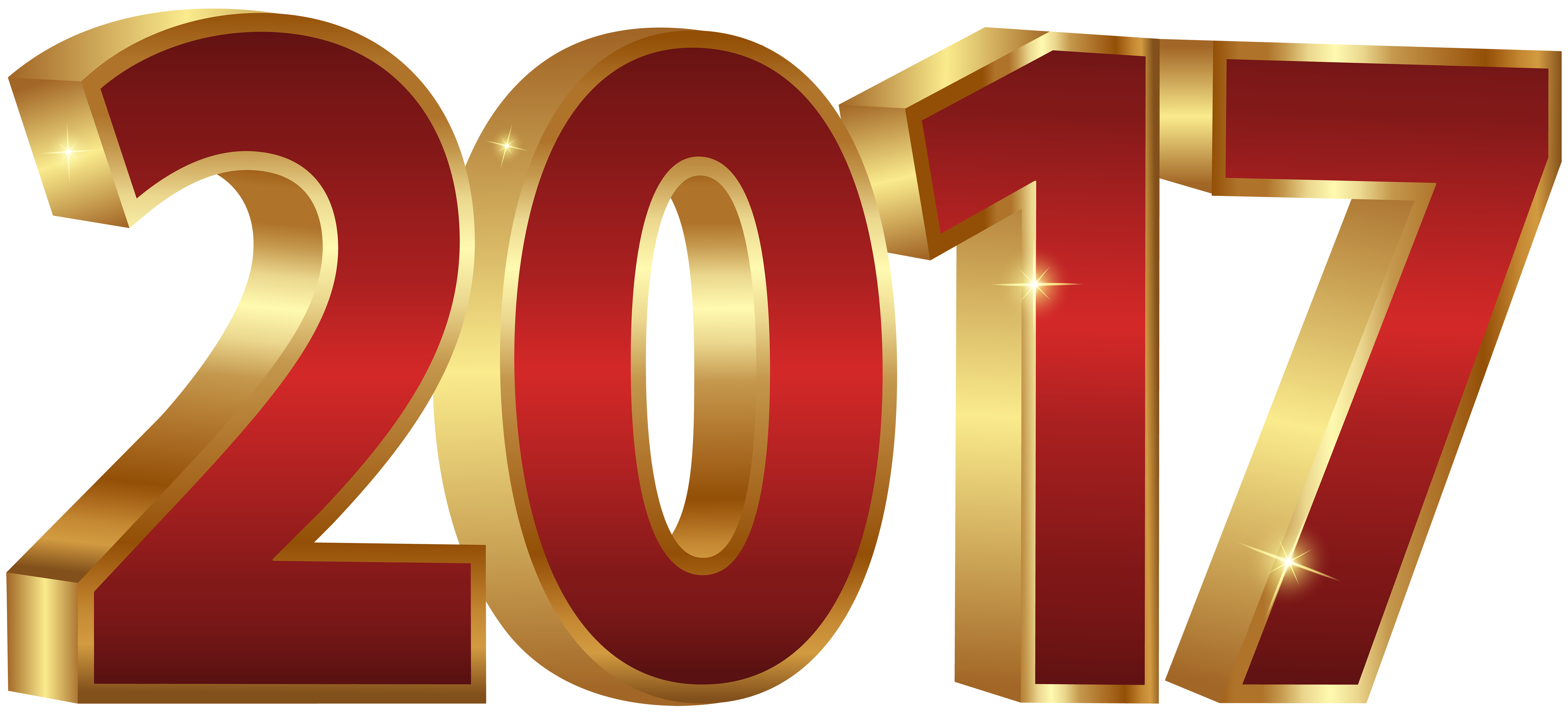 Golden 2017 PNG Clipart Image New Year 2018.