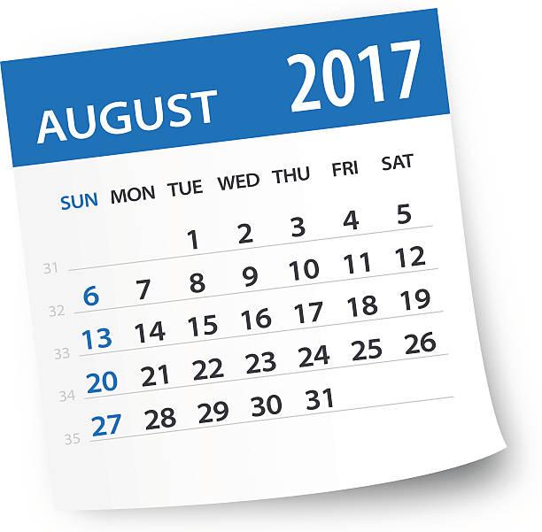 August 2017 calendar leaf.