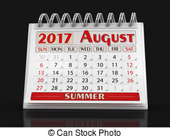 Calendar august 2017 Clipart and Stock Illustrations. 1,881.
