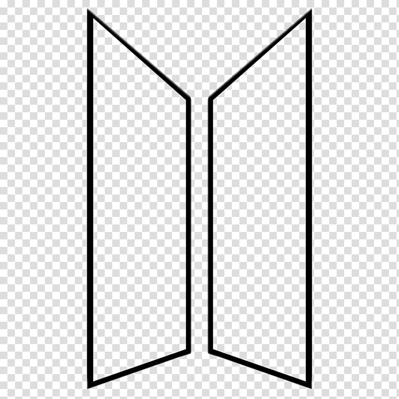 BTS New Logo BTSxARMY Version , two rectangular black frame.