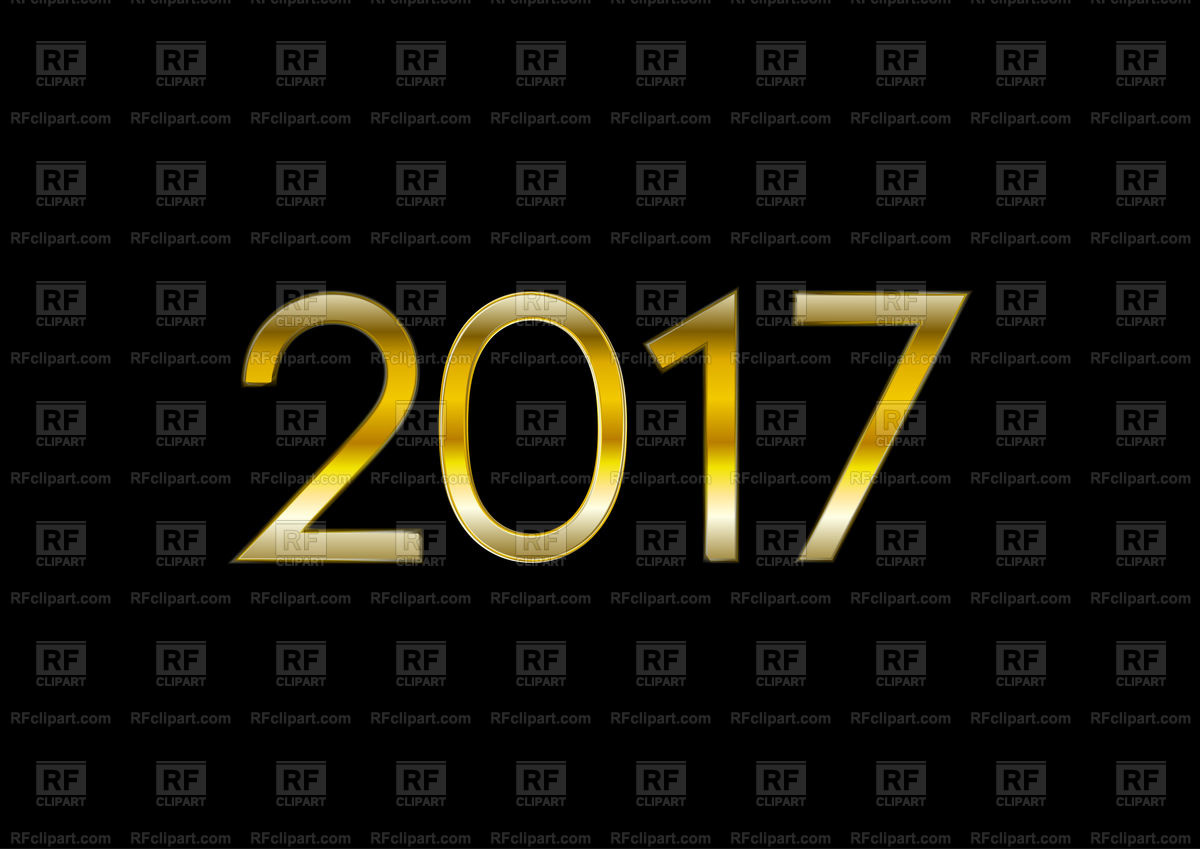 2017 numbers on black background Stock Vector Image.