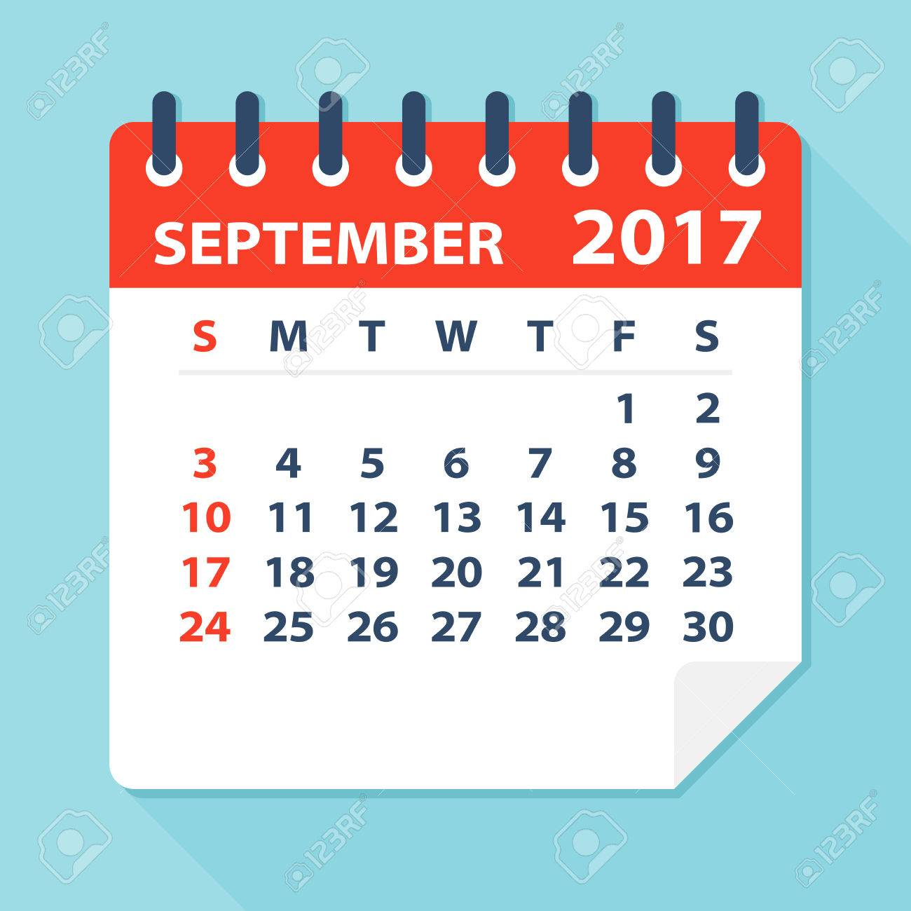 September 2017 Calendar.
