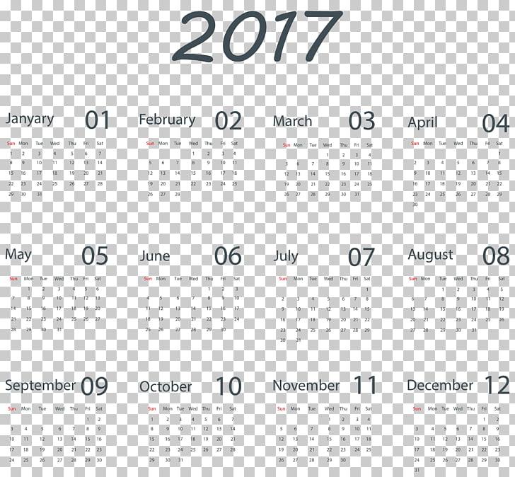 Calendar , Transparent 2017 Calendar , 2017 year calendar.