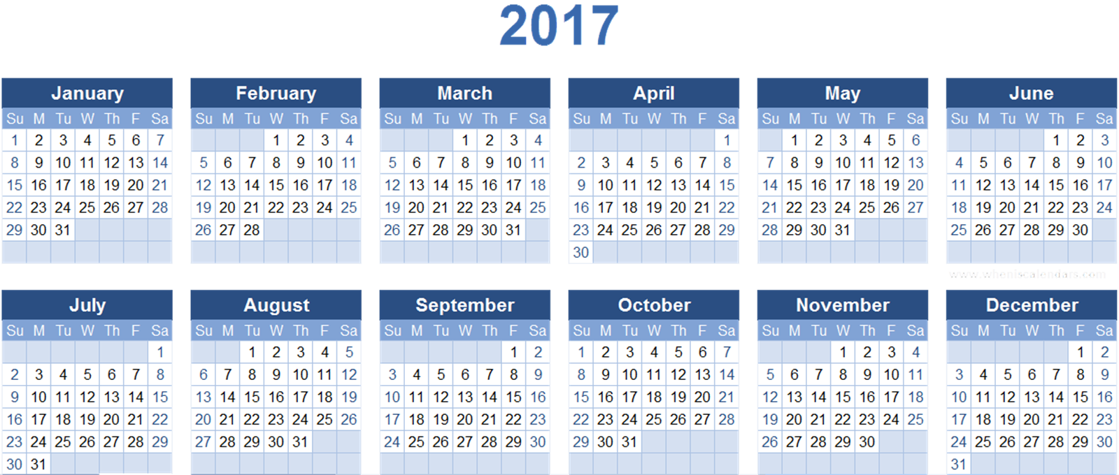 Free 2017 Calendar PNG Transparent Images, Download Free.