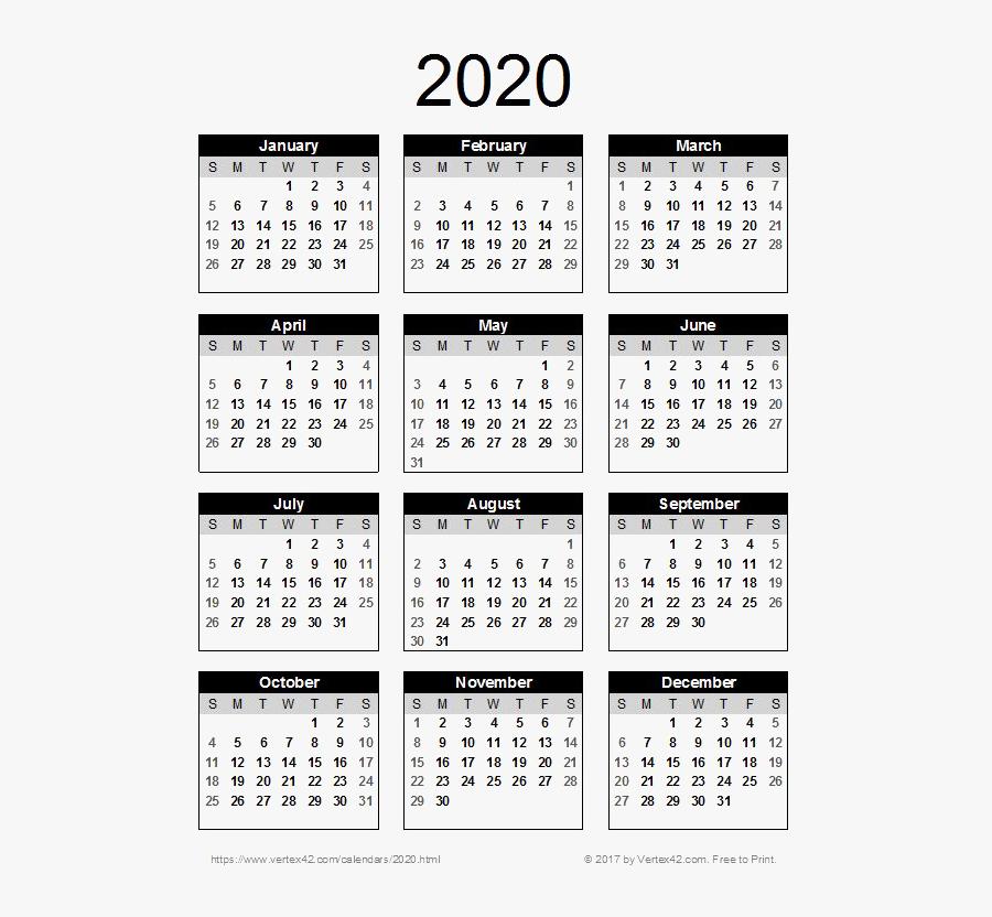 2020 Calendar Png Pic.