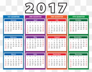 Free PNG 2017 Calendar Clip Art Download.