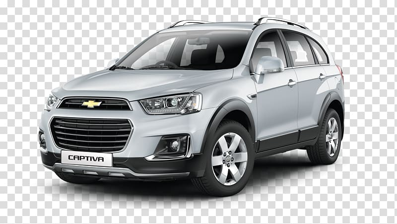 Silver Chevrolet Captiva SUV, Sport utility vehicle.