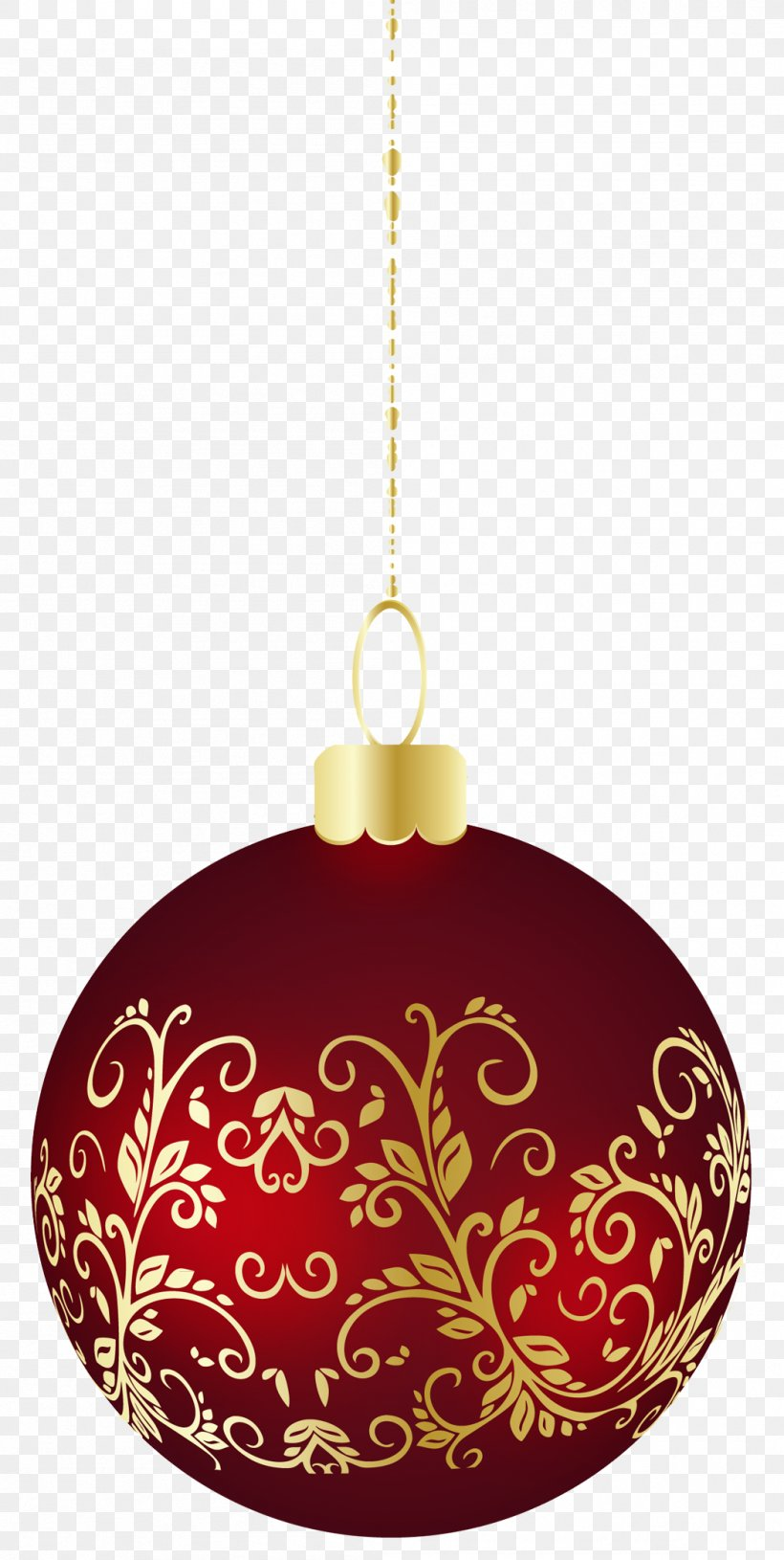 Large Transparent Christmas Ball Ornament Clipart, PNG.