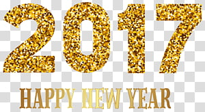 2017 New Years Day transparent background PNG cliparts free download.