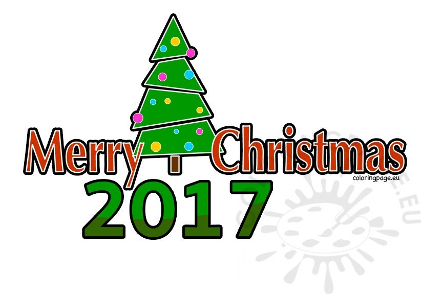Merry Christmas 2017 clipart.