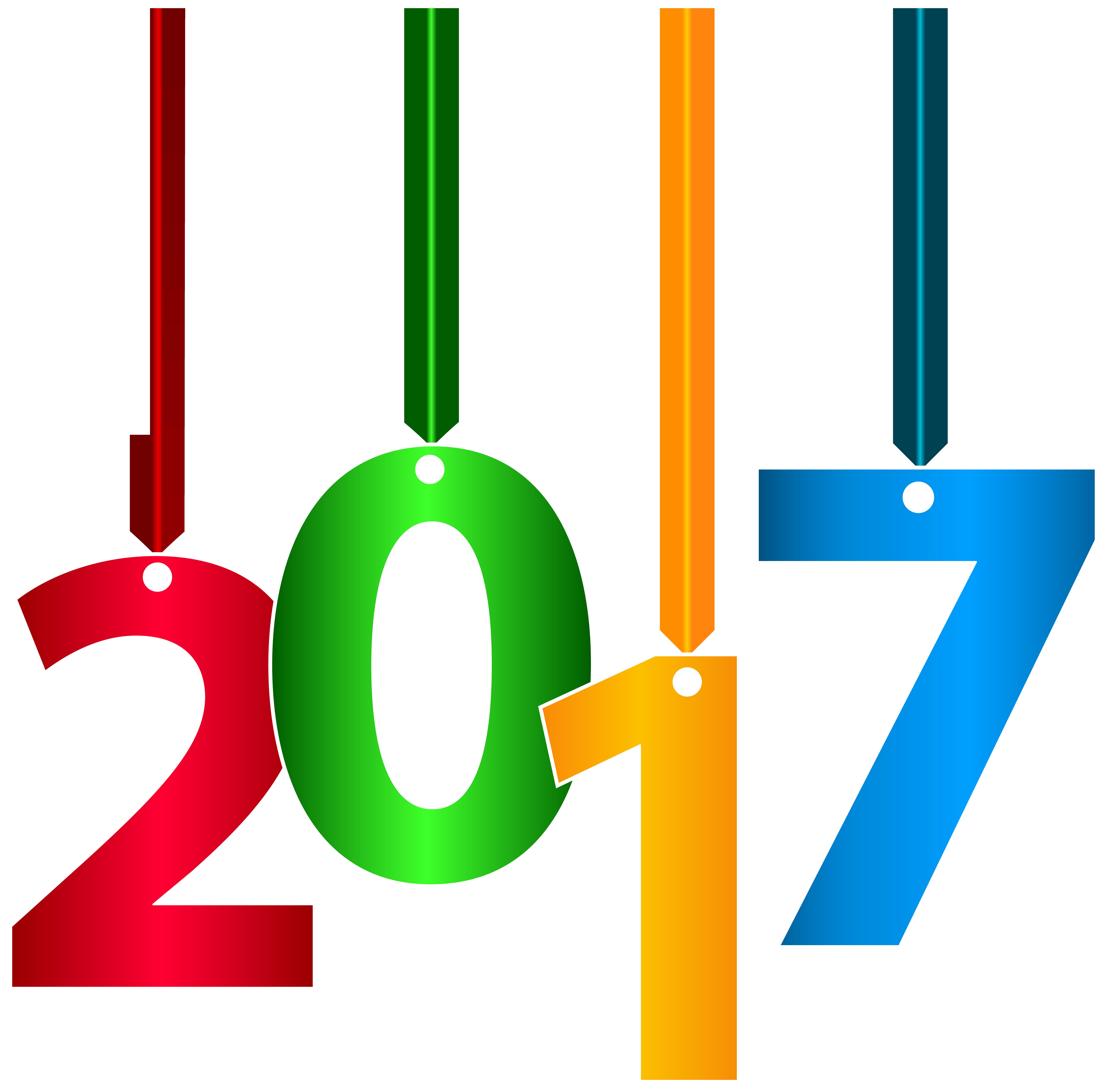 2017 Hanging Transparent Clip Art PNG Image.