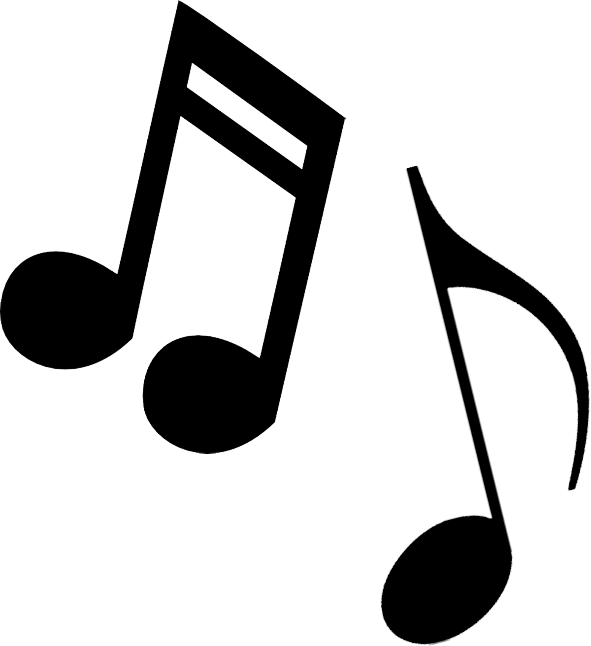 Music notes black and white free music note clip art.