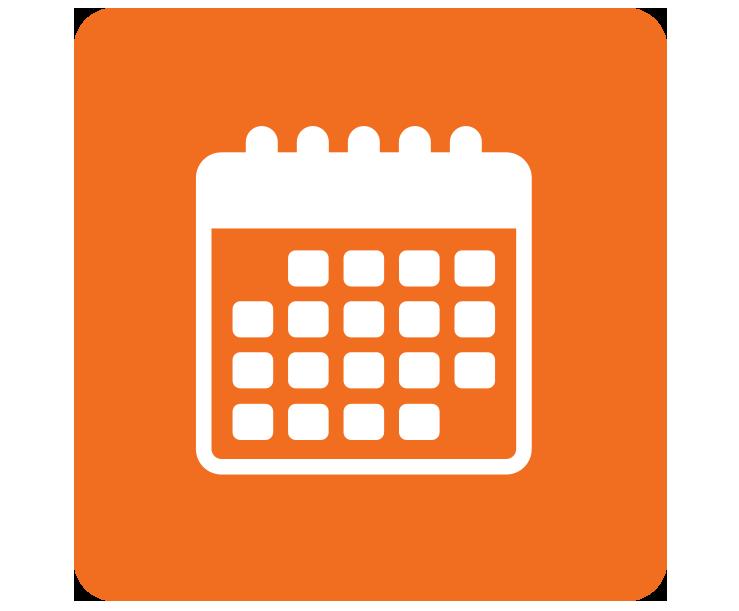 Orange clipart calendar, Orange calendar Transparent FREE.