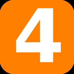 Orange Rounded Number 4 Clip Art at Clker.com.