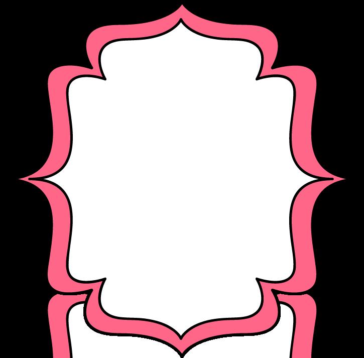 Pink Bracket Frame Clipart.